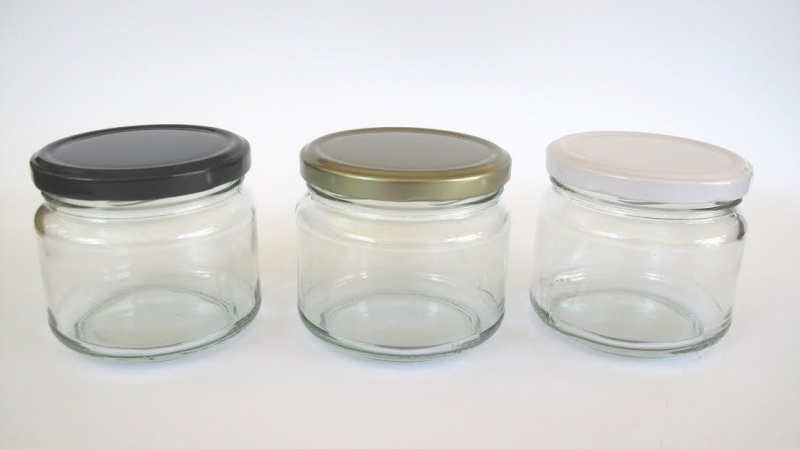 Large Hexagonal Glass Jars 250ml Hexagonal Glass Sauce